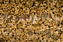 Stack of firewood. Royalty Free Stock Images