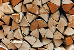 Stack of firewood Stock Images