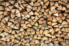 Stack firewood Royalty Free Stock Photo