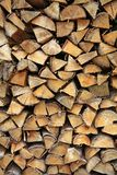 Stack firewood Stock Photo