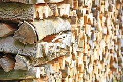 Stack firewood Royalty Free Stock Photos
