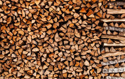 Stack of firewood. Fill frame Royalty Free Stock Image