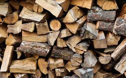 Stack Firewood. Wonderful Stack of firewood ready for winter Stock Photography