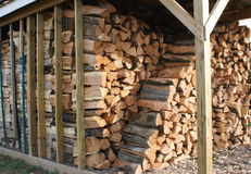 Stack of Firewood Stock Photo