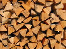 Stack of firewood. Texture background Royalty Free Stock Photos