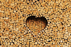Stack of firewood - abstract background Royalty Free Stock Images