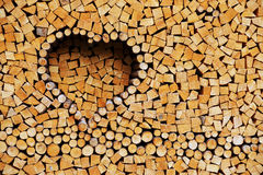 Stack of firewood - abstract background Royalty Free Stock Image