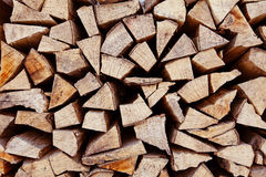 Stack of firewood background Royalty Free Stock Photography