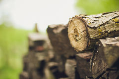 A stack of firewood close up Royalty Free Stock Photo