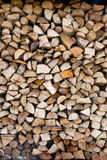 Stack of firewood. Woon in nature Stock Images
