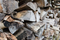 Stack of firewood Royalty Free Stock Photo