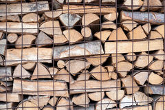 Stack of firewood for fireplace country life style Stock Photography