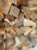 Firewood. Stack of firewood royalty free stock photography