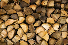 Stack of Firewood. Freshly cut and stacked firewood to keep warm for the winter Royalty Free Stock Images