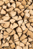 Stack of firewood - a natural vertical background. A stack of firewood - a natural vertical background Royalty Free Stock Photo