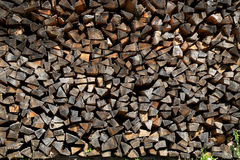 Stack of firewood for next winter Stock Photos