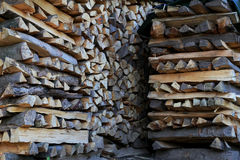 Stack of firewood for next winter Royalty Free Stock Photos