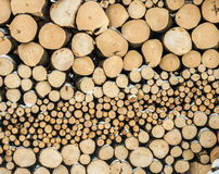 A stack of firewood texture Royalty Free Stock Photos