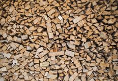 Stack of firewood textured material fuel background royalty free stock photo