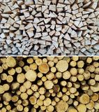 Stack on firewood. View of Stack on firewood Stock Photo