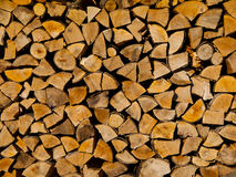 Stack of firewood. Wood logs texture background Royalty Free Stock Photography