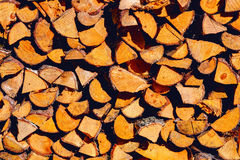Stack of firewoods on the sun Royalty Free Stock Photos