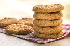 Stack of five Anzac biscuits. Stock Photography