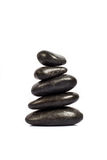 Stack of five black stones Royalty Free Stock Photo