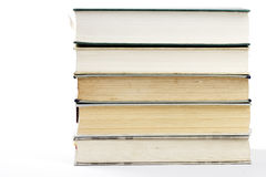 Stack of five books Stock Photos