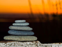 Stack of Five Flat Rocks Royalty Free Stock Image