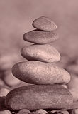 Stack of five stones Royalty Free Stock Photography