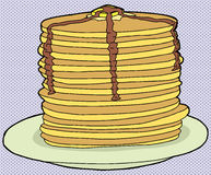 Stack of Flapjacks Royalty Free Stock Photography