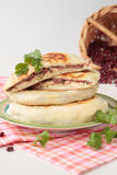 Stack of flat bread with  beans Stock Image