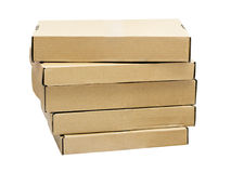A stack of flat cardboard boxes Stock Photography