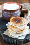 A stack of flat round bread Stock Image