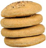 Stack of Flatbreads with Sesame Seeds Royalty Free Stock Photo