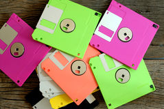 Stack of floppy disk Royalty Free Stock Photo
