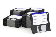 Stack of floppy disks Stock Image