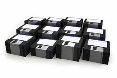 Stack of floppy disks Royalty Free Stock Image