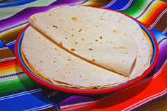 Stack of flour tortillas Royalty Free Stock Images