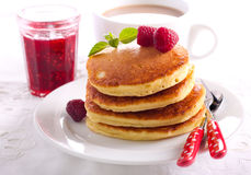 Stack of fluffy pancakes Stock Photos