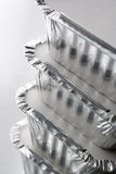 Stack Of Foil Take Away Containers Stock Photo