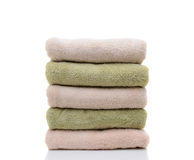 A Stack of Folded Bath Towels Royalty Free Stock Photo