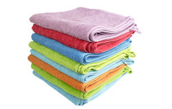 A stack of folded bath towls Royalty Free Stock Photo