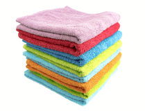 A stack of folded bath towls Royalty Free Stock Image
