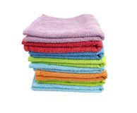 A stack of folded bath towls Royalty Free Stock Photos