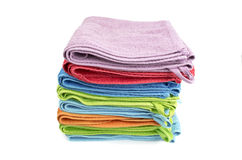 A stack of folded bath towls Stock Image