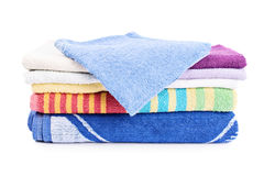 Stack of folded bathroom towels Stock Photography