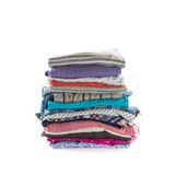 Stack of folded clothes Royalty Free Stock Photos