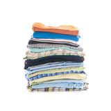 Stack of folded clothes Royalty Free Stock Photography